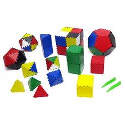 Lokon 624 Bauplättchen für geometrische Formen: Dreieck, Viereck und Fünfeck