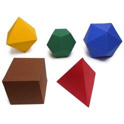 Magnetic Polydron Platonische Körper Set 50 Teile