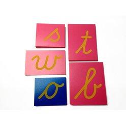 Sandpapierbuchstaben lateinische Ausgangsschrift, Kleinbuchstaben (internationale Version), ab 4 Jahre