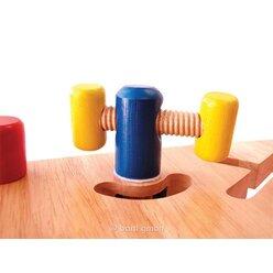 Kinder-Werkbank, Lernspielzeug aus Holz, ab 19 Monate