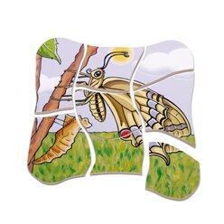 Lagenpuzzle Schmetterling, ab 4 Jahren