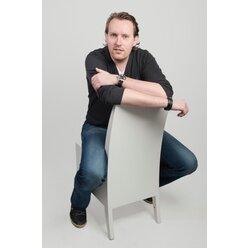 Musikstuhl (Cajon-Stuhl), weiß, Sitzhöhe 46cm