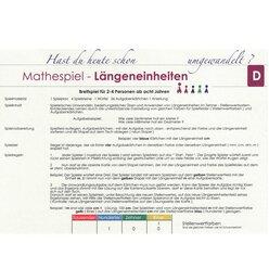 Lernspielset: Mathespiel Längeneinheiten, ab 8 Jahre