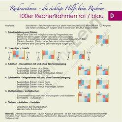 Rechenrahmen 100er 5/5 rot/blau ReWOOD System Kühnel