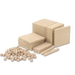Dienes 121 Teile aus ReWOOD® mit Tausenderwürfel, Set II natur