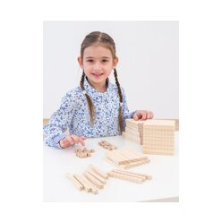 Dienes 121 Teile aus Massivholz mit Tausenderwürfel, Set I
