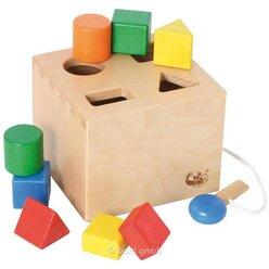 Sortierbox mit 8 Bausteinen und Schlüssel, ab 2 Jahre
