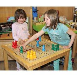 Spieltisch Schach/Dame - Ludo, ab 4 Jahre