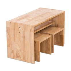 Holz-Sitzgruppe, 4-teilig