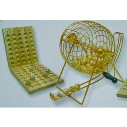 Bingo-Lotto-Set Groß mit 90 Holzkugeln von 25 mm