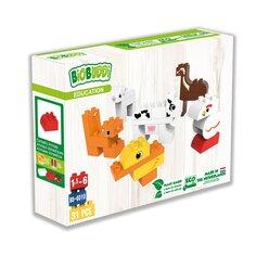 BIOBUDDI Haustiere und Wildtiere, Bausteine-Set, 2-6 Jahre