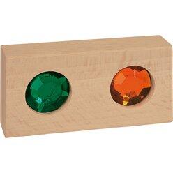 Juwelen-Bausteine im Holzkasten, ab 3 Jahre