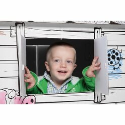 Karton-Spielhaus - Educo - mit Aufdruck
