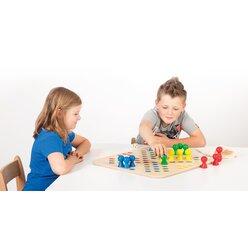 Go 4, Spielbrett mit Spielfiguren + Würfel, ab 3 Jahren (auch für Senioren)
