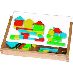 Magnet-Legespiel im Holzkasten, 44 Teile