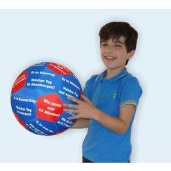 Lernspielball Zeit und Uhrzeit, Ø 35cm