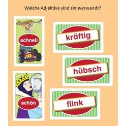 Sprache betrachten: Sag es treffender! - sinnverwandte Adjektive, Kartenspiel, ab 9 Jahre