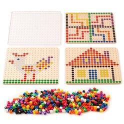 Perlen Steckspiel mit Aufgabenkarten, ab 3 Jahre