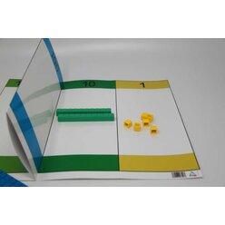 Faltbare Stellenwerttafel 80 x 31 cm
