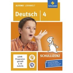 Alfons Lernwelt Deutsch 4 Schullizenz, DVD-ROM
