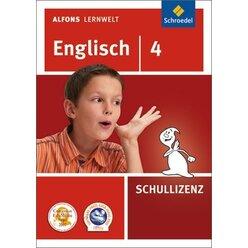 Alfons Lernwelt Englisch 4 Schullizenz, DVD-ROM