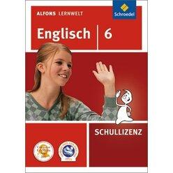 Alfons Lernwelt Englisch 6 Schullizenz, DVD-ROM