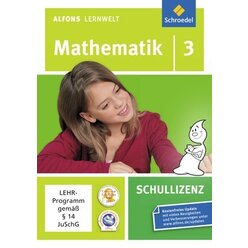 Alfons Lernwelt Mathematik 3 Schullizenz, DVD-ROM