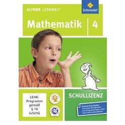 Alfons Lernwelt Mathematik 4 Schullizenz, CD-ROM