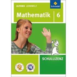 Alfons Lernwelt Mathematik 6 Schullizenz, CD-ROM