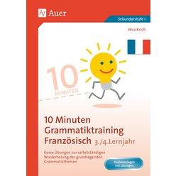 10-Minuten-Grammatiktraining Französisch Lj. 1-2, Buch, 5. bis 7. Klasse
