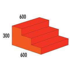 Treppe 3-stufig MAXI rot/orange, ab 4 Jahre