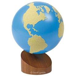 Globus Land - Wasser 1 Landflächen aus Sandpapier