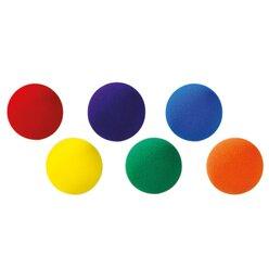 Satz mit 6 Mini-Softbällen, je 9 cm Durchmesser, ab 3 Jahre