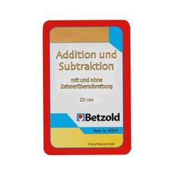 Addition/Subtraktion bis 100, Kartensatz zum magischen Zylinder, 7-9 Jahre