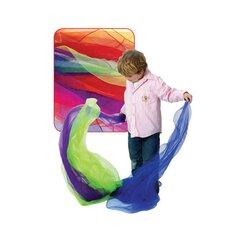 Satz mit 10 Spieltüchern, 140 x 140 cm, farbig sortiert, ab 3 Jahre