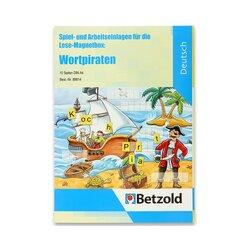 Wortpiraten, Spiel- und Arbeitseinlagen für die Lese-Magnetbox, 5-8 Jahre