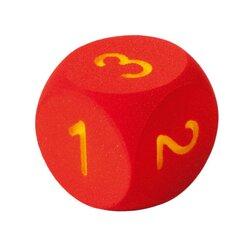 Zahlenwürfel groß 16 cm, rot
