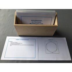 Aktivitätskarten - Mit Zirkel und Lineal in Holzschachtel, Geom10