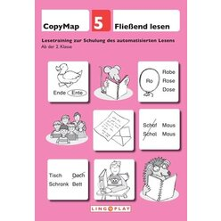 CopyMap 5 - Schulung des automatisierten Lesens, Kopiervorlage, ab 2. Klasse