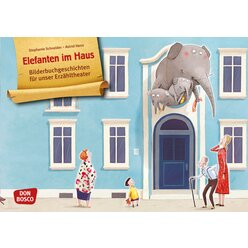 Kamishibai Bildkartenset - Elefanten im Haus, 3-8 Jahre