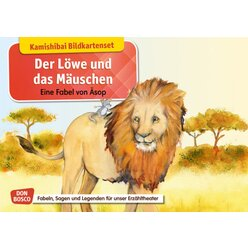 Kamishibai Bildkartenset - Der Löwe und das Mäuschen, 5 bis 11 Jahre