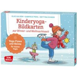 Kamishibai Bildkartenset - Kinderyoga-Bildkarten zur Winter- und Weihnachtszeit, 4-10 Jahre