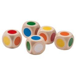 Farbwürfel Set, 6 Stück aus Holz