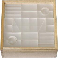 Lumi-Lichtbausteine 3 transparent im Holzkasten, ab 3 Jahre