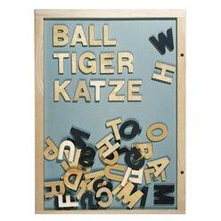 Magnet-Buchstaben aus Holz, 51 Stück, ab 4 Jahre