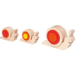 Schneckenfamilie, Holzspielzeug