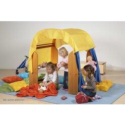 Spieltuch gelb für Spielhaus, 2 Stück als Set
