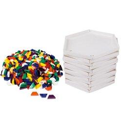 Prismo Trapezspiel mit 22cm-Legerahmen 12er-Set durchgefärbt (Großpackung)