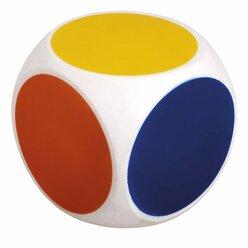 Farbenwürfel, 10 cm, aus weichem Kunststoff