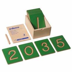 Fühl-Zahlen 0 bis 9 in Holzbox, ab 3 Jahre